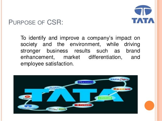 csr tata Paying utmost importance to sustainability and responsible growth, tata power has developed a sustainability model  csr overview csr annual.
