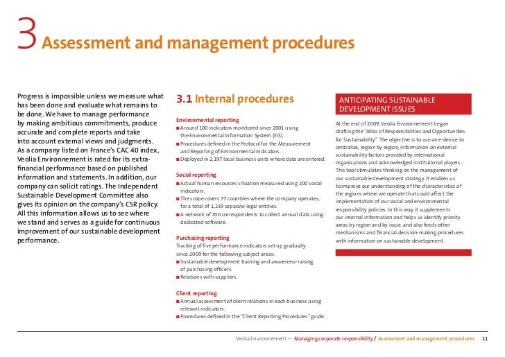 3      Assessment and management proceduresProgress is impossible unless we measure whathas been done and evaluate what re...