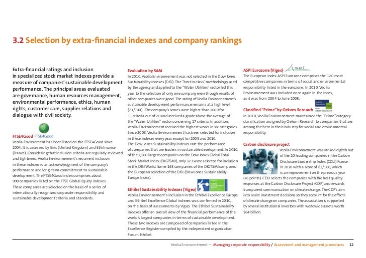 3.2 Selection by extra-financial indexes and company rankingsExtra-financial ratings and inclusion          Evaluation by SA...