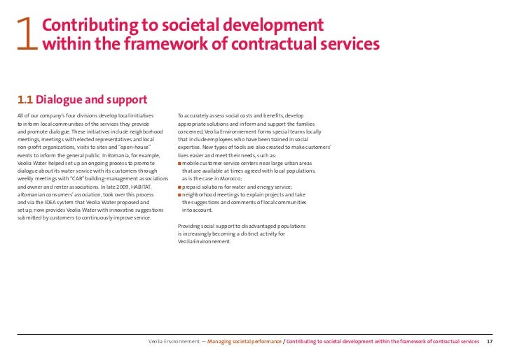 1        Contributing to societal development         within the framework of contractual services1.1 Dialogue and support...