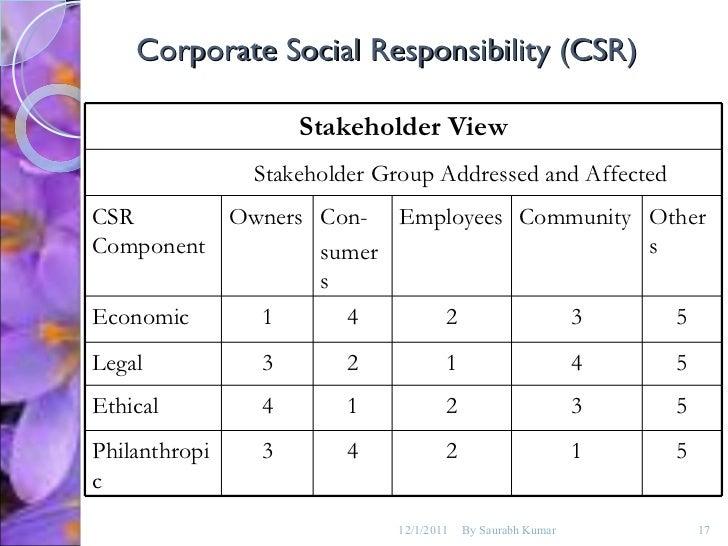 Coporate social responsibilty essay