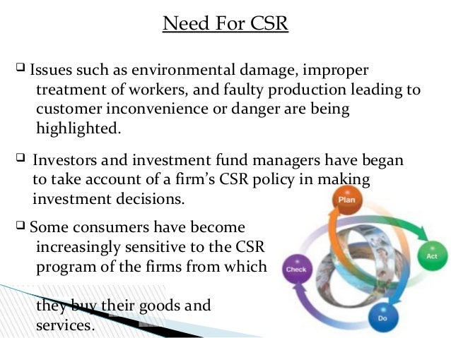 csr is important Corporate social responsibility: measuring its value by shanaz musafer business reporter so it's really important to have some clear goals in mind.