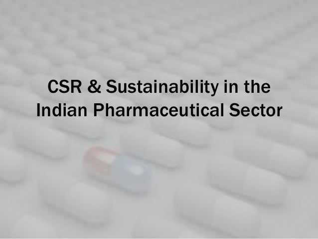 CSR & Sustainability in the Indian Pharmaceutical Sector