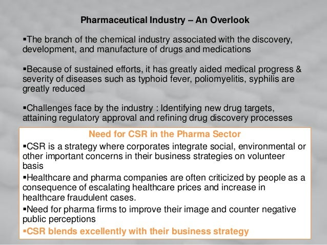 Pharmaceutical Industry – An Overlook The branch of the chemical industry associated with the discovery, development, and...