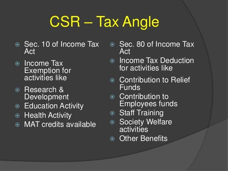 Corporate Social Responsibilites