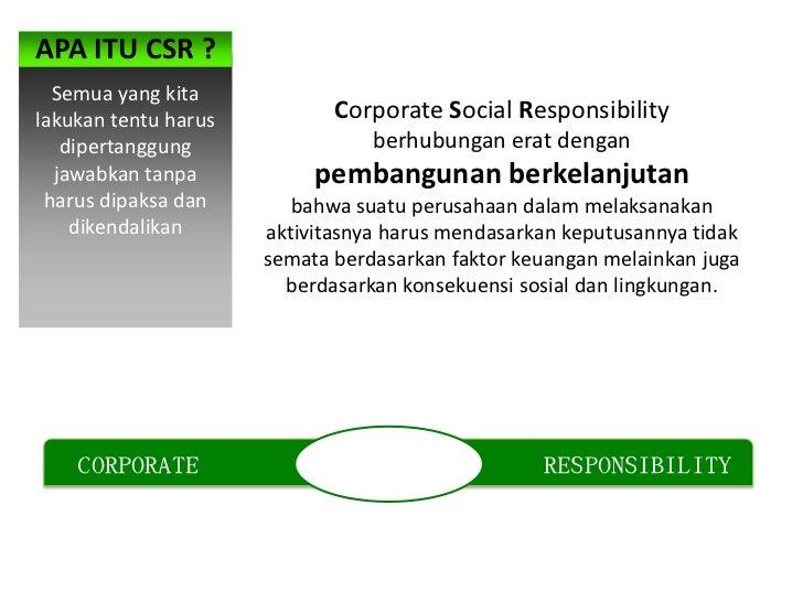 APA ITU CSR ?  Semua yang kitalakukan tentu harus          Corporate Social Responsibility   dipertanggung                ...