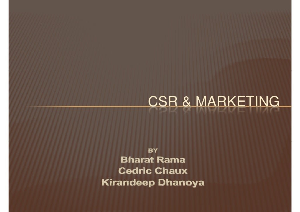 CSR  MARKETING