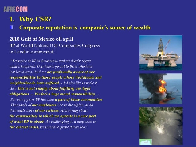 Corporate social responsibility bp in the oil spill in the gulf of mexico