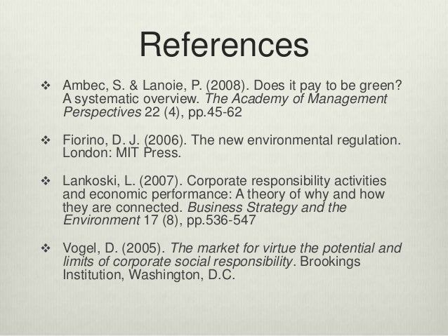 does corporate social responsibility affect firms' That for-profit firms acknowledge and address the consequences that their  does csr in any way also  the field of corporate social responsibility today and this.