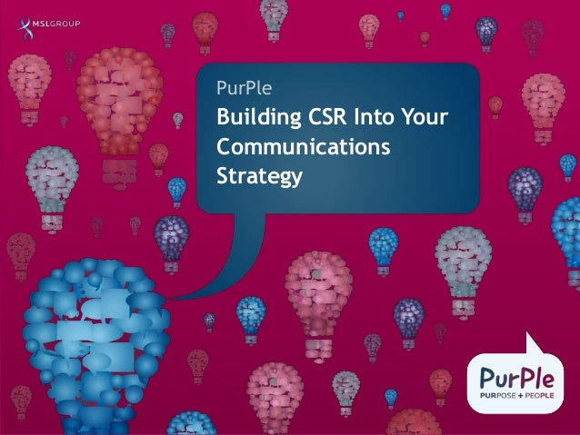PurPle Building CSR Into Your Communications Strategy