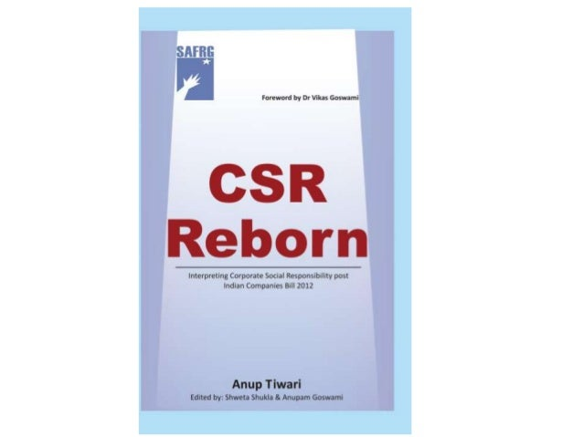 CSR Reborn- a presentation on book on Corporate Social Responsibility