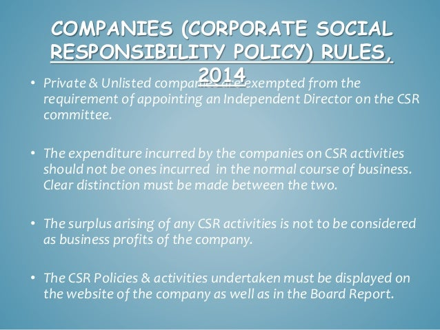 corporate social responsibility csr within two companies Full-text paper (pdf): exploration of corporate social responsibility (csr) in  multinational companies within the food industry.