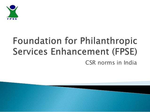 CSR norms in India