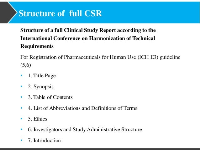 Turacoz clinical study report ich e3 guidelines for clinical study report 16 maxwellsz