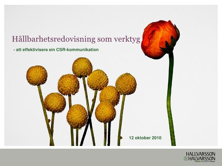 Seminarium: Hållbarhetsredovisning och effektiv CSR-kommunikation