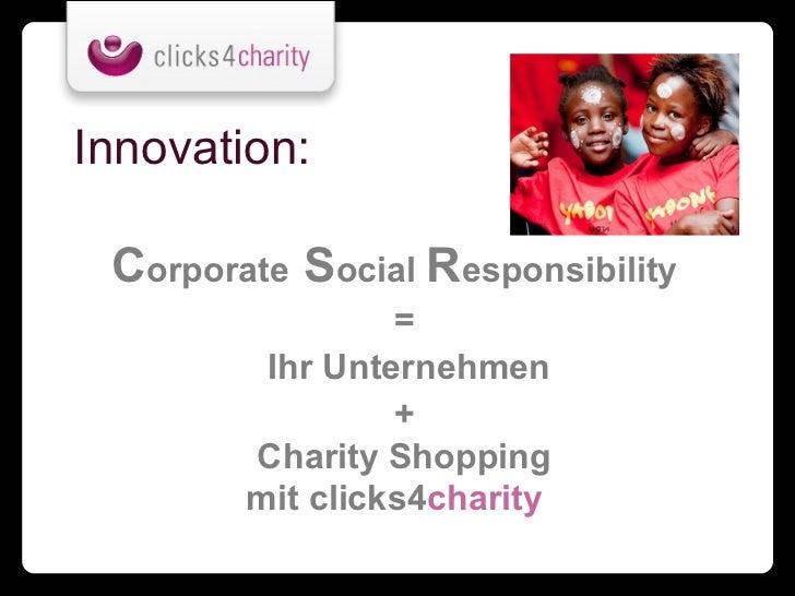 innovation corporate social responsibility ihr unternehmen - Csr Beispiele