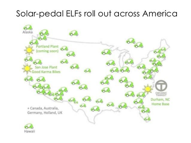 Solar-pedal ELFs roll out across America