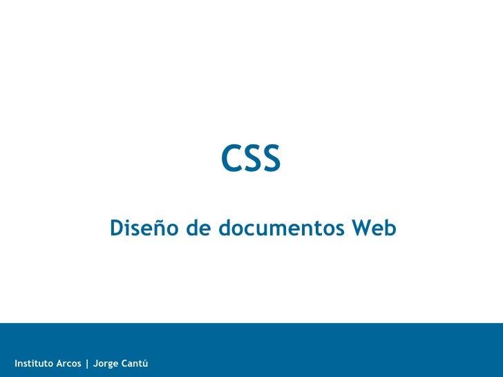 CSS Diseño de documentos Web