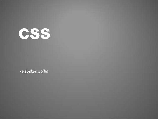 CSS- Rebekka Sollie