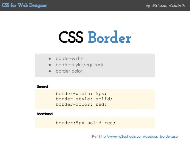 how to create a border with css