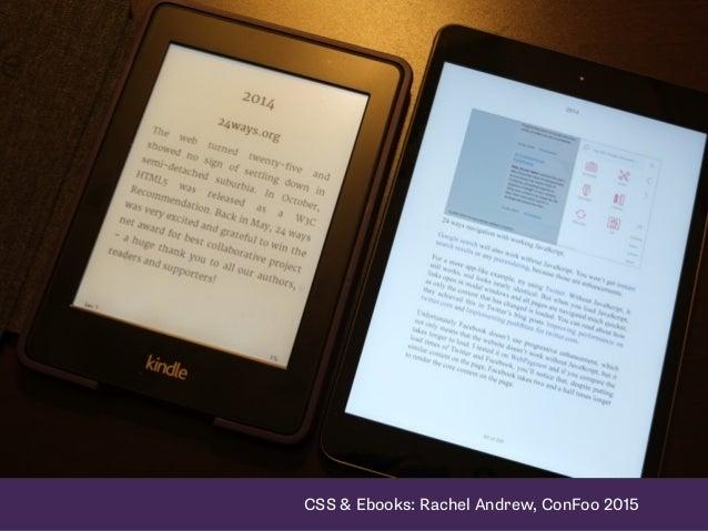 CSS & Ebooks: Rachel Andrew, ConFoo 2015