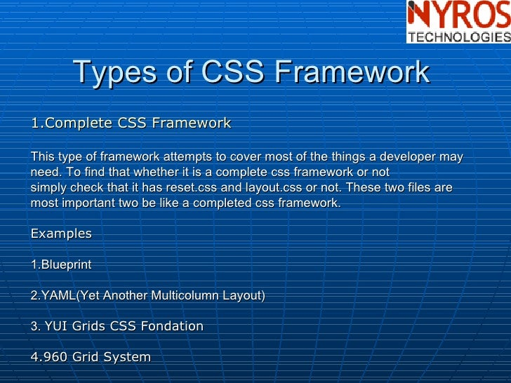 Css framework by nyros developer 8 types of css malvernweather Gallery