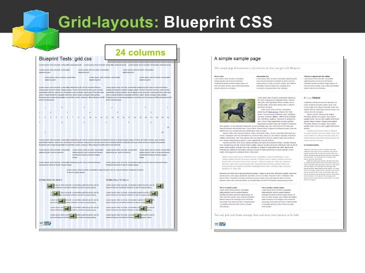 Using a css framework grid layouts blueprint css 24 columns malvernweather Image collections