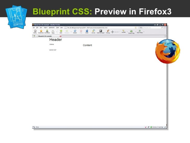 Using a css framework blueprint css preview in firefox3 malvernweather Images