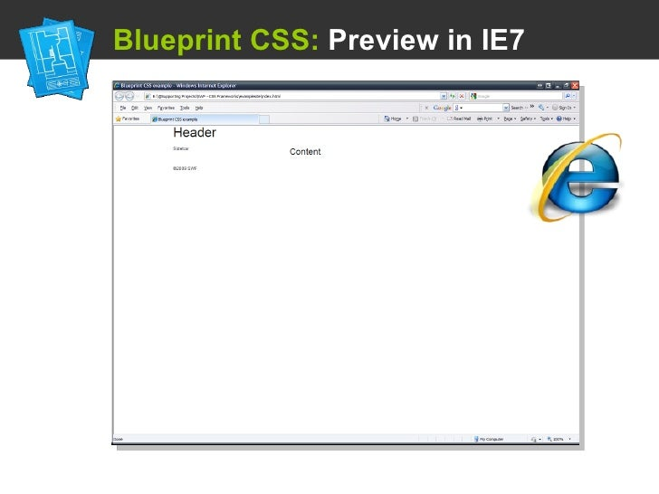 Using a css framework blueprint css preview in ie7 malvernweather