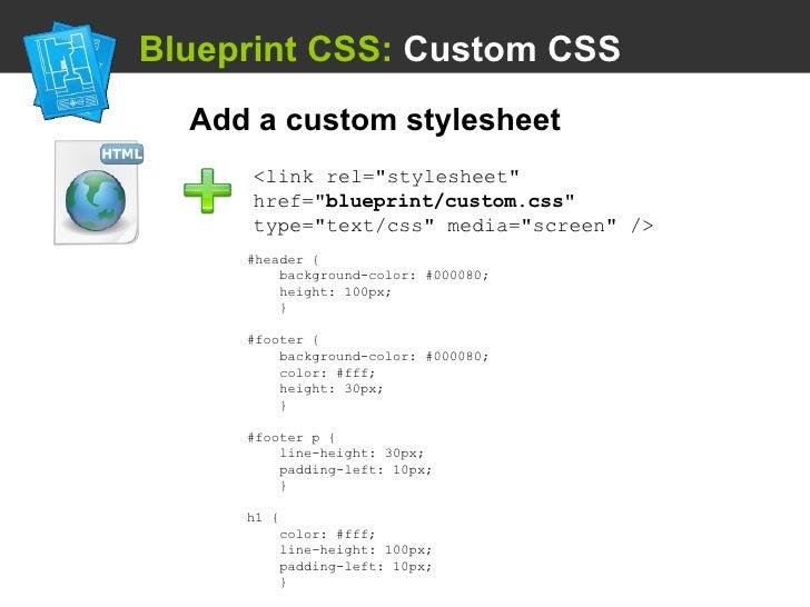 Using a css framework blueprint malvernweather Image collections