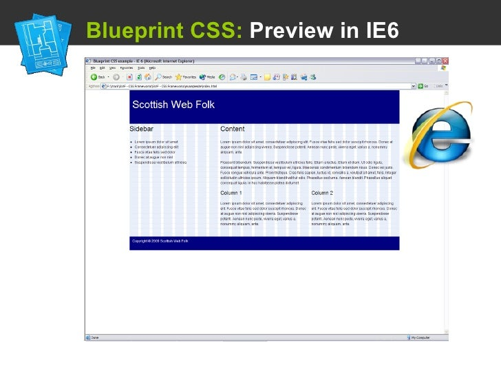Using a css framework blueprint css preview in ie6 malvernweather Gallery
