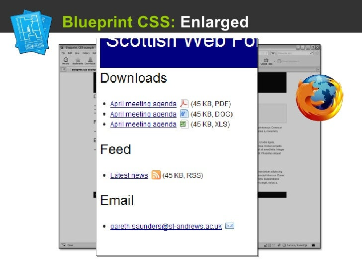 Using a css framework blueprint css enlarged malvernweather Images
