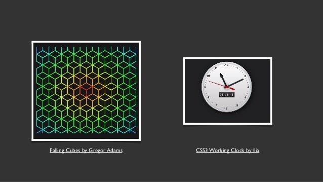Talk web design get ready for css grid layout falling cubes by gregor adams css3 working clock by ilia 4 modern css layout malvernweather Images