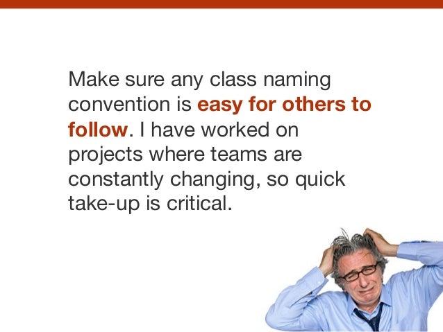 Establish a class naming convention