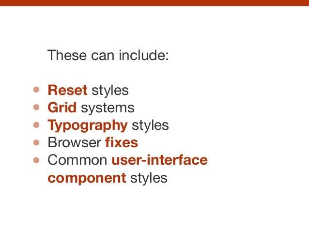 CSS pattern libraries Slide 27