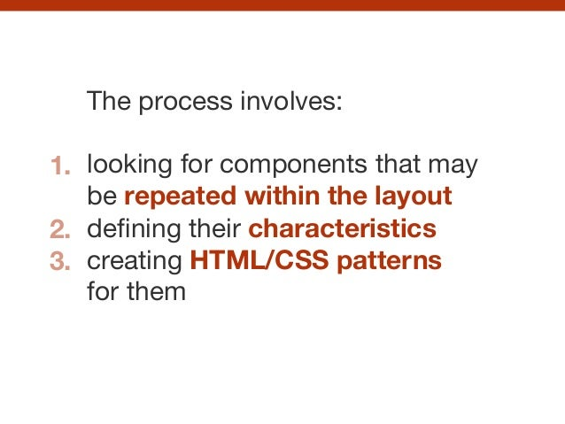 The process involves:  ! looking for components that may be repeated within the layout  defining their characteristics crea...
