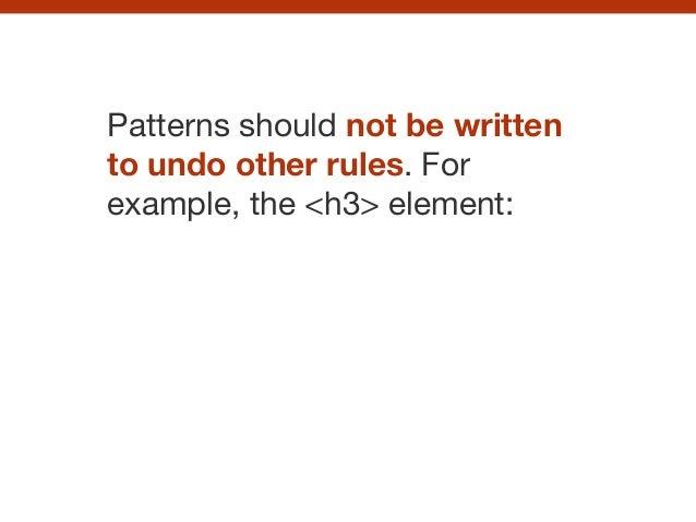 CSS pattern libraries Slide 61
