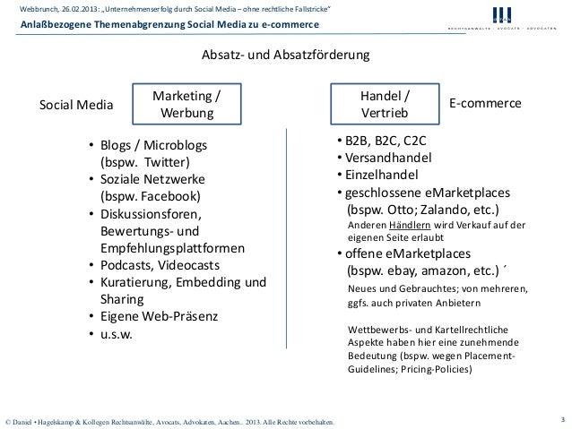 """Webbrunch, 26.02.2013: """"Unternehmenserfolg durch Social Media – ohne rechtliche Fallstricke""""    Anlaßbezogene Themenabgren..."""