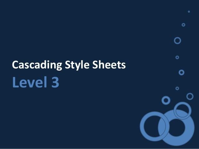 Cascading Style Sheets Level 3