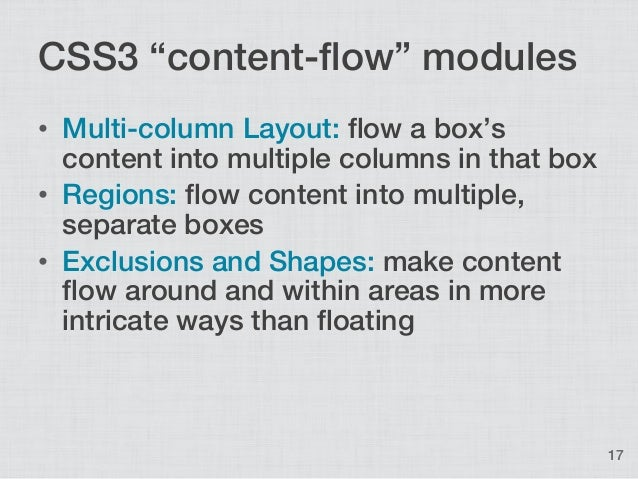how to change page flow in css