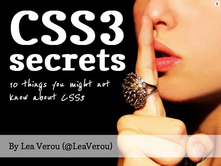 CSS3 secrets: 10 things you might not know about CSS3