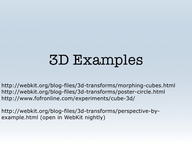 CSS3 Talk at SF HTML5 Meetup