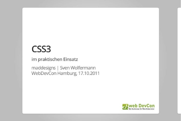 CSS3 im praktischen Einsatz