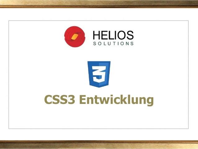 CSS3 Entwicklung