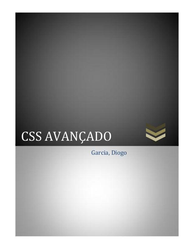CSS AVANÇADOGarcia, Diogo