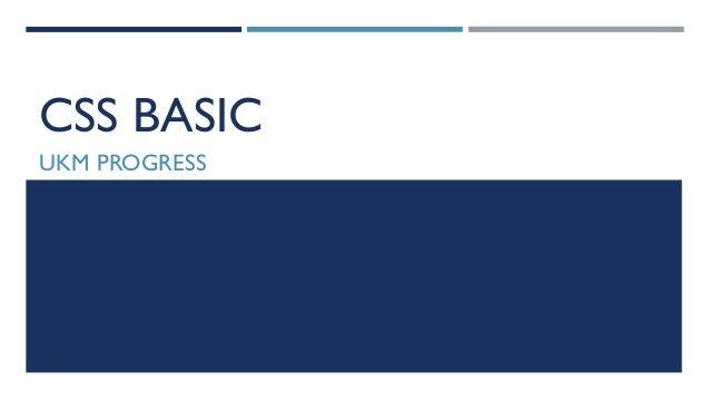 CSS BASIC UKM PROGRESS