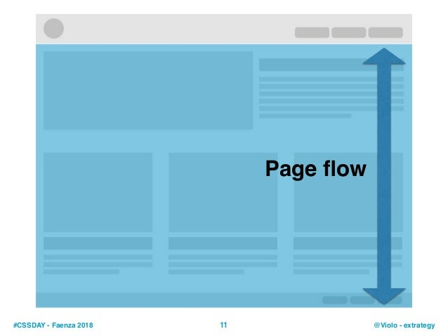 #CSSDAY - Faenza 2018 @Violo - extrategy11 Page flow