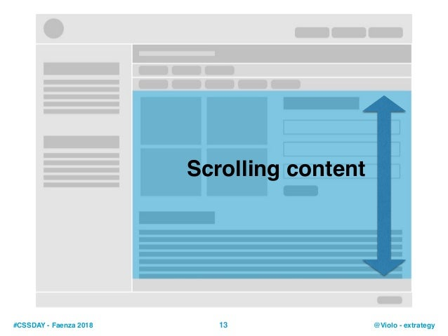 #CSSDAY - Faenza 2018 @Violo - extrategy13 Scrolling content