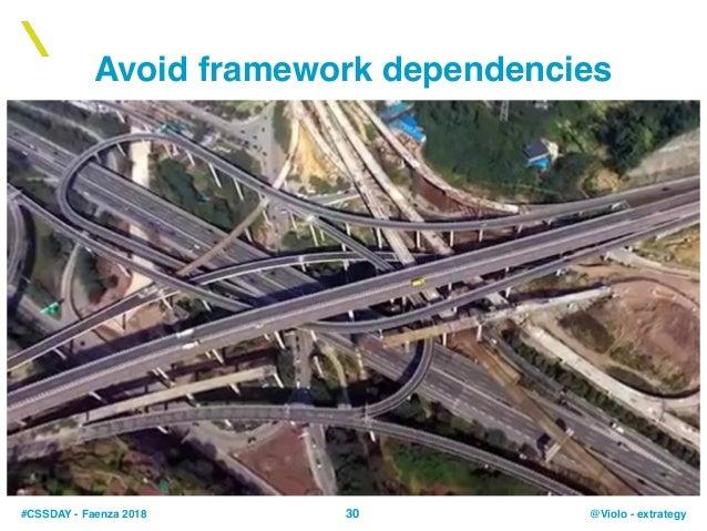 #CSSDAY - Faenza 2018 @Violo - extrategy30 Avoid framework dependencies