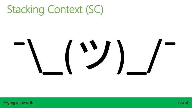 Box Tree CSS Box CSS Box CSS Box Line Box @gregwhitworth {paint} Line Box Item 1 Root Stacking Context Stacking Context <b...